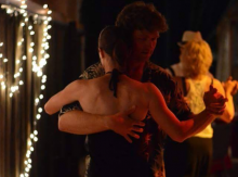 Patrick dancing Argentine Tango in a milonga.